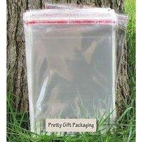 100p/lot flap seal self adhesive poly bag opp clear plastic bag 25*36cm