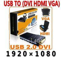 5pcs/lot usb External video card USB TO DVI HDMI VGA Graphics Adapter Converter Multi-Display Adapter Converter (1920x1080)