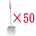 lot 50pcs silver resin cube wire card&notes&desk&memo&photo clip holder,new wedding place,promotion gift ,meeting party favor