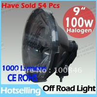 2 Pcs 100w halogen 4x4 light, free shipping, 1000 lumens 100w halogen off road driving work working flood spot light lamp