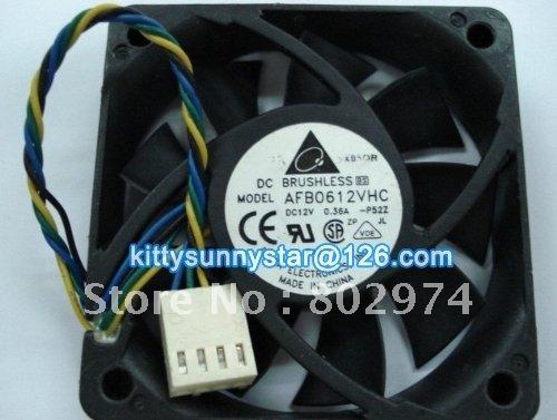Delta 6015 AFB0612VHC 12V 0.36A 4Wire Computer case fan,Cooler Fan,Server Fan,Cooling Fan(China (Mainland))