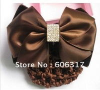 24 pcs /lot  high quality  worker bowknot barrette/nurse clip/Snood Net /Stewardess hair clip