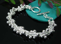 EVYSSL(71) Free shipping Wholesale fashion silver jewelry jewellry chunky chain bracelet for woman brand new gift hight quality