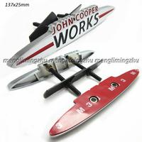 Metal MINI Works John COOPER Grill Badges 135x25mm