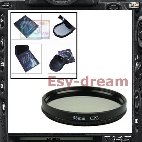 Фильтр для фотокамеры Esydream 58 58 CPL Canon 85/18/55/55/250 Nikon 55/300 Tamron 90 DSLR PA269 профессиональная цифровая slr камера nikon d3200 18 55mmvr