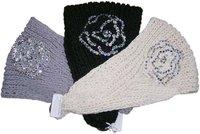 Free Shipping 2011 Newest hot sale Handmade knit headdress Flower headwrap/fashion headband knit headbands with rhinestones