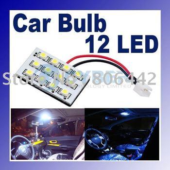 Free Shipping! 12V SMD 12 LED Car Bulb Lamp