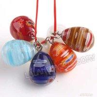 60x New Mixed Teardrop Flower Millefiori Lampwork Pendant Bead Jewelry Wholesale Pendant Fit Charms Bracelet & Necklace 140186