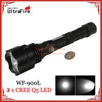 UltraFire WF-900L 5 x CREE Q5 LED 900LM 3 Mode Outdoor Aluminum Alloy LED Tactical Flashlight