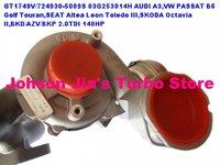 GT1749V/724930-5009S Turbocharger AUDI A3,VW PASSAT B6 Golf Touran,SEAT Altea Leon Toledo,SKODA Octavia,BKD/AZV/BKP 2.0TDI 140HP