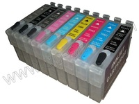 T0961  5sets/lots Compatible Refillable ink Cartridge for R2880 with the latest ARC chips  free shipping by DHL