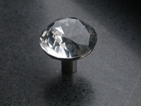 Clear sparkling diamond crystal cabinet knob\10pcs lot free shipping\30mm\zinc alloy base\chrome plated