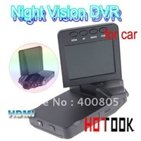 "Wholesale 2.5"" TFT LCD Night Vision HD Car DVR Camera With HDMI interface 6 flash lights x 10 PCS -- ship via express"