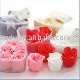 2011Free shipping beautiful flower soap /rose soap with a nice aroma/bath soap/wedding soap /wedding supply/wedding bath