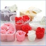 2011Free shipping beautiful flower soap /rose soap with a nice aroma/bath soap/wedding soap /wedding supply/wedding bath