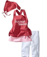 Girl beach suits children clothes set (headband+shirt+pant) Free shipping