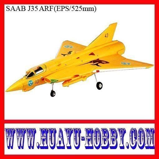 rc jet plane SAAB J35 KIT(China (Mainland))