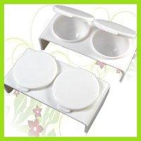 KT051 Acrylic Liquid Double Dappen Case Dish Nail Art T