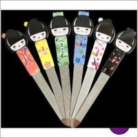 Manicure tools Beautiful girl coated fancy sapphire nail file Stainless steel nail arts Promotion Gift  for her