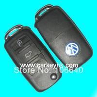 2pcs  VW 3 button folding flip remote key 433Mhz ID48 chip 753N model