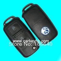 2pcs  VW 2 button folding flip remote control key with 433Mhz ID48 chip 753N model