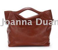 Free shipping! ladie's real genuine leather retail big handbag B-002