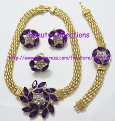 NEWEST DESIGN HOT SALE!!!Jewelry sets for wholesale and retail 18k gold plated 4 sets custom jewelry(China (Mainland))