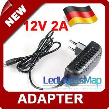 DHL EMS Free Shipping AC/DC Power supply power Adapter 12V 2A EU Plug [LedLightsMap]