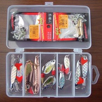 Free shipping,New Arrivals Fishing Lure Metal Spoon/Spinner 10g-15g/4cm-10cm 10pcs/box