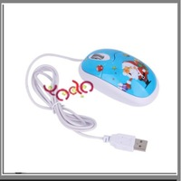 Free shipping from USA+3pcs/lot YXD-Santa USB Claus Wired Mouse for PC,Gift Mouse Blue-C02143