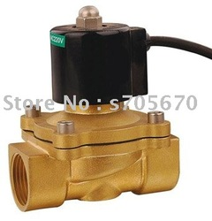 100% Gurantee 2 Way Water-proof Electric Water Solenoid Valve Brass NC G1 1/2&quot; 24V DC 2W series(China (Mainland))