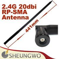 10pcs free shipping 2.4GHz 20dBi WIFI Booster Wireless RP-SMA Antenna WLAN,wifi antenna,sma antenna