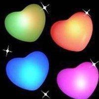 Free Shipping! 20PCS per lot Changing Colors  LED novelty lamp! heart shape led light