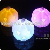 Free Shipping! 20PCS per lot Changing Color  LED lights!Pumpkin shape