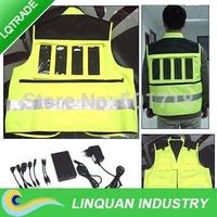 Multifunctional Solar Charger vest / rescue vest / reflective vest / Solar Charger