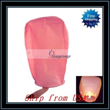 Free Shipping + 20pcs/lot Fire Sky Chinese Lanterns Birthday Wedding Party-W00905