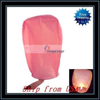 Free Shipping + 20pcs/lot Fire Sky Chinese Lanterns Birthday Wedding Party-W00905