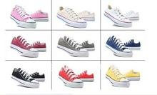 Free Shipping !!!New 2012 Canvas Choes Low and High shoes men's and women's Canvas Shoes(China (Mainland))