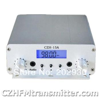 czh-15A 15W V1.0 FM stereo PLL broadcast transmitter 87.5-108mhz