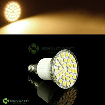 E14 30 LED 5050 SMD Warm White 3000K 85V~265V 5.5W Spot light bulb
