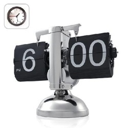 Hot sale INTERNAL GEAR OPERATED BRAND NEW RETRO FLIP DOWN CLOCK table clock(China (Mainland))