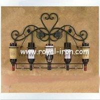 Free shipping,long using time,anti-rust,longevity,high quality,low price,muti-use wall display shelf,wine rack/holder,5-holes