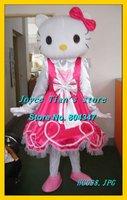 Newest Version Light Hello Kitty Mascot Costume Cartoon Mascot Character Costume Free Shipping