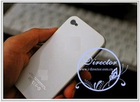 DIRECTOR Free shipping 50pcs/lot New Colorful Hard Case for iPhone 4 4s w/ Label Logo (DT-11050502)