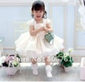 wholesale freeshipping flower girl dress & wedding dress for girls & kids cake dress retail short sleeve