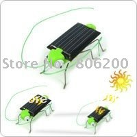 Free Shipping (10pcs), Mini Energy Conservation and Environmental Solar Grasshopper Toy