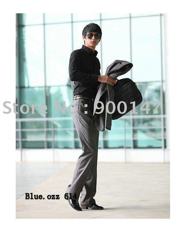 Free Shipping Slim style men shirt(China (Mainland))