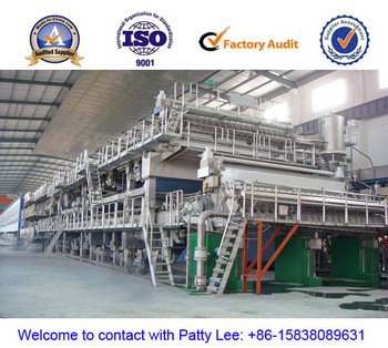 Popular, hot selling, triple / three wires testliner paper / duplex paper machine, 3200mm,  120 T/D,  Waste paper, sulfate board