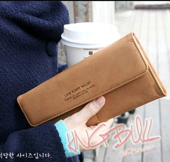 Free Shipping Leather Lady's Fashion Clutch Bag Purse