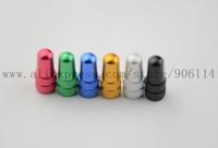 100pcs/lot Bicycle Tire Aluminium CNC Alloy Valve PRESTA Caps 6 Colors